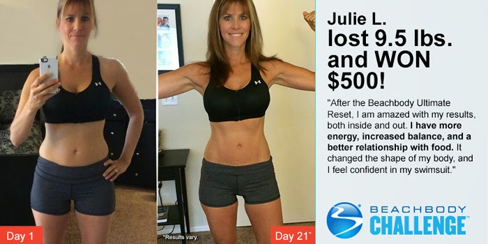 Beachbody challenge winner, Ultimate reset, healthy fit focused, Julie Little