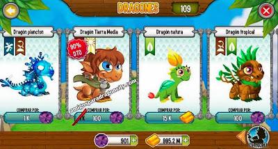 imagen del dragon tierra media por 100 gemas en dragon city android