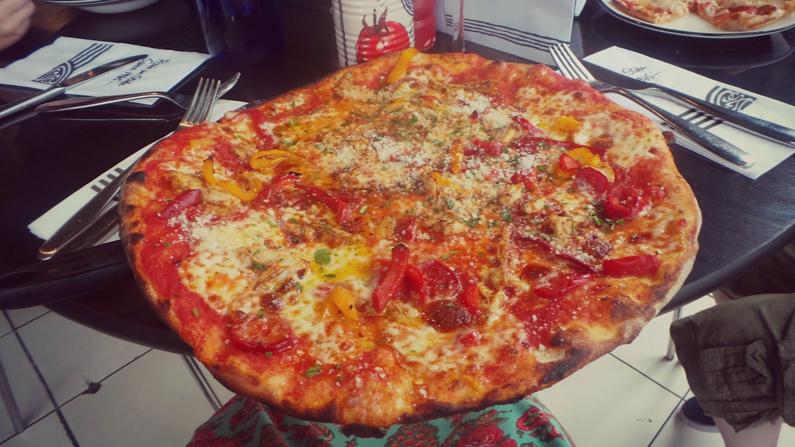 huge spicy pizza