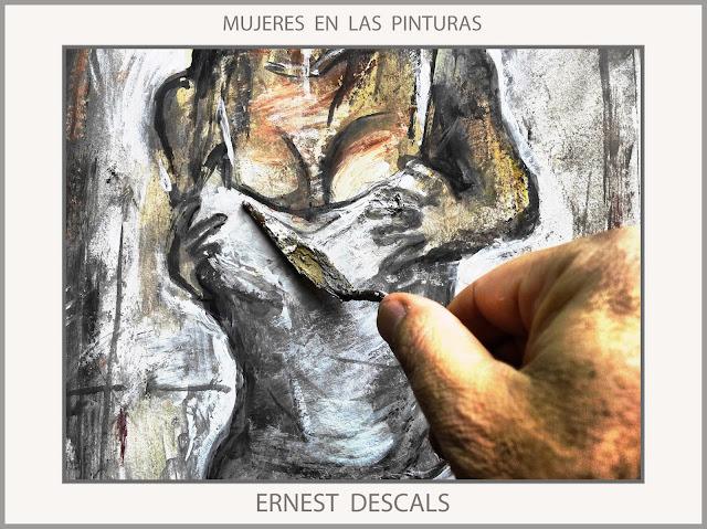 MUJERES-PINTURAS-MUJER-PINTURA-PINTANDO-SENOS-PROVOCACION-ARTISTA-PINTOR-ERNEST DESCALS-