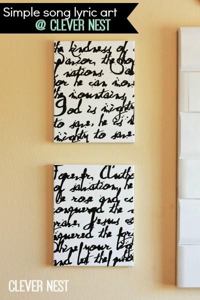 Mighty to Save lyric art using a Silhouette Cameo, Clever Nest #diy_canvas_art #song_lyric_art