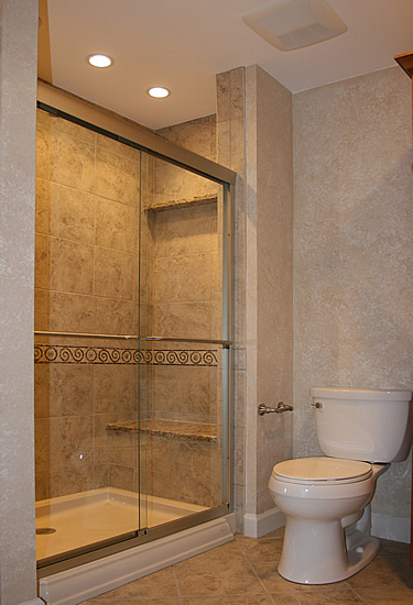 Home design small basement bathroom designs small for Full bathroom remodel