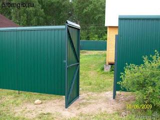 Забор из профлиста. Фото 24