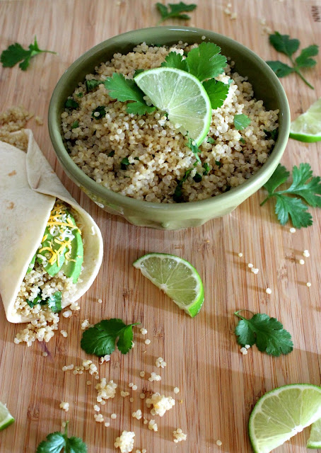 healthy vegetarian recipe: cilantro lime quinoa!