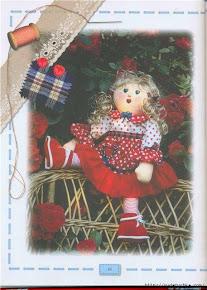 Lindas bonecas de pano neste site.