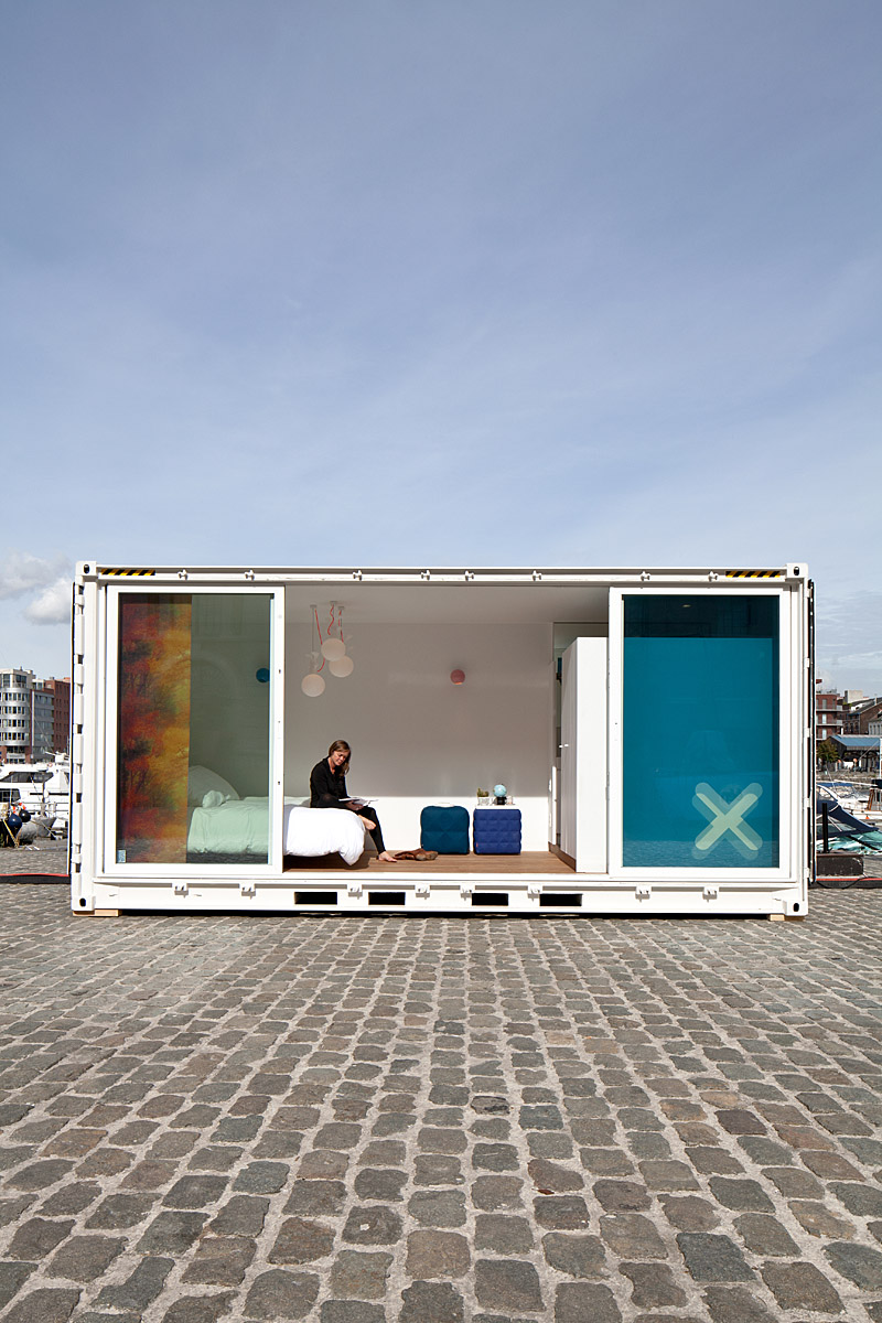 Shipping container homes 20 ft shipping container hotel belgium sleeping around - Building shipping container homes ...