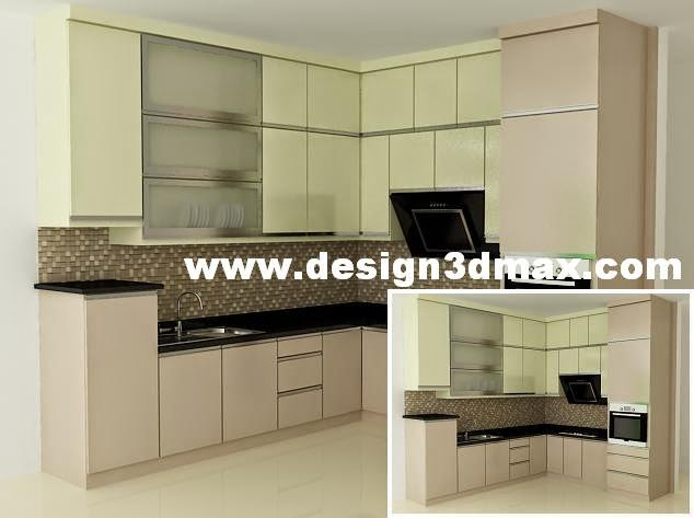 Jasa desain ruko minimalis modern desain kitchen set for Kitchen set hijau