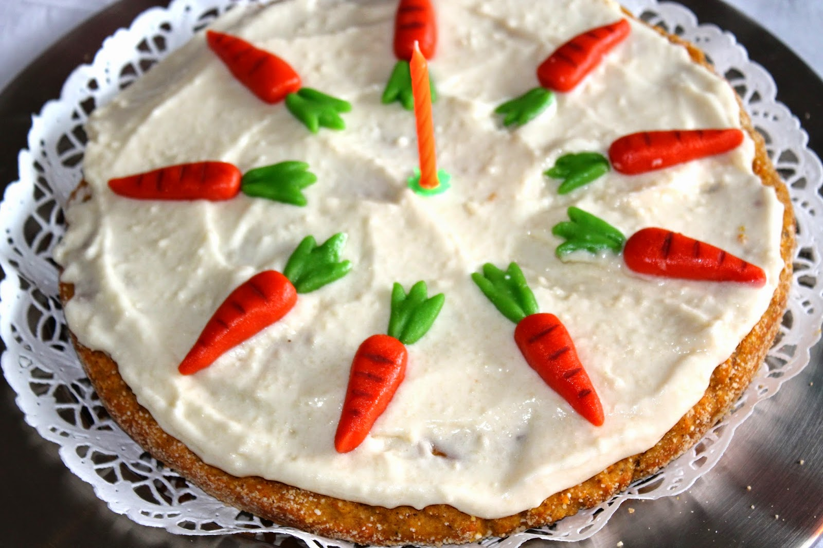 birthday carrot cake by chef student