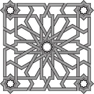 pola dan bentuk seni geometri ornamen islam