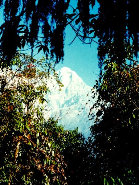View of Annapurna South from the trail