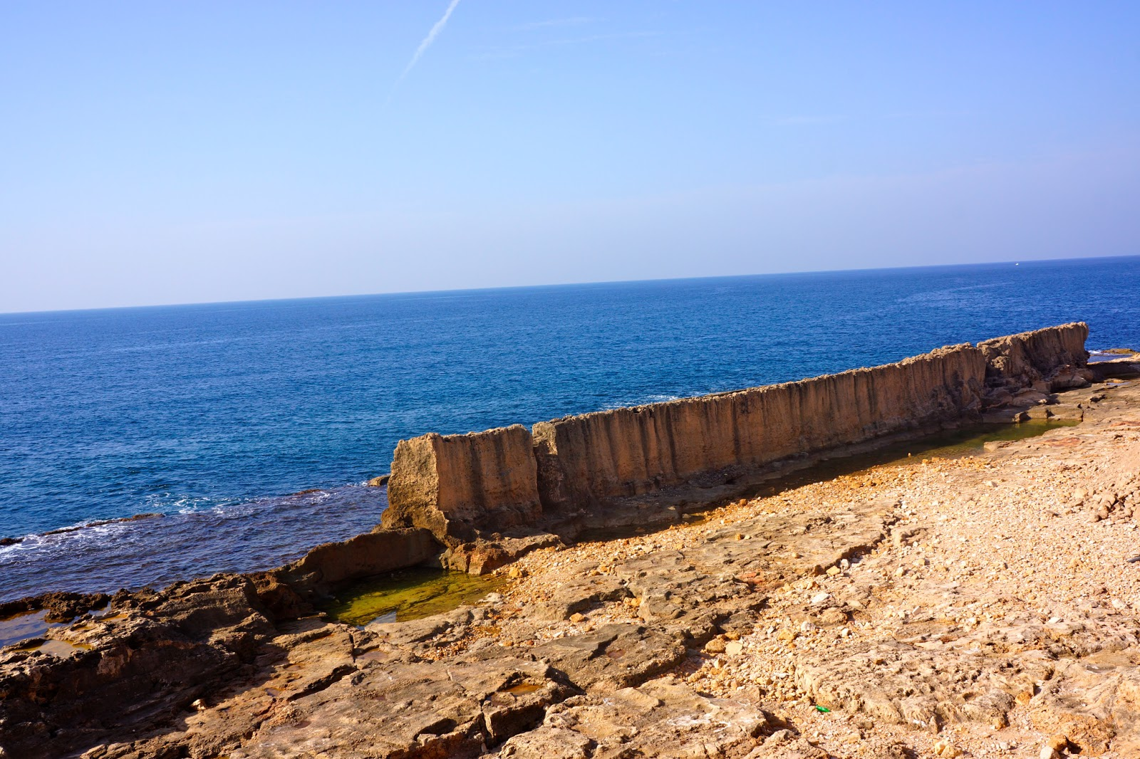 The marine wall seen from the old town in Batroun, Lebanon.