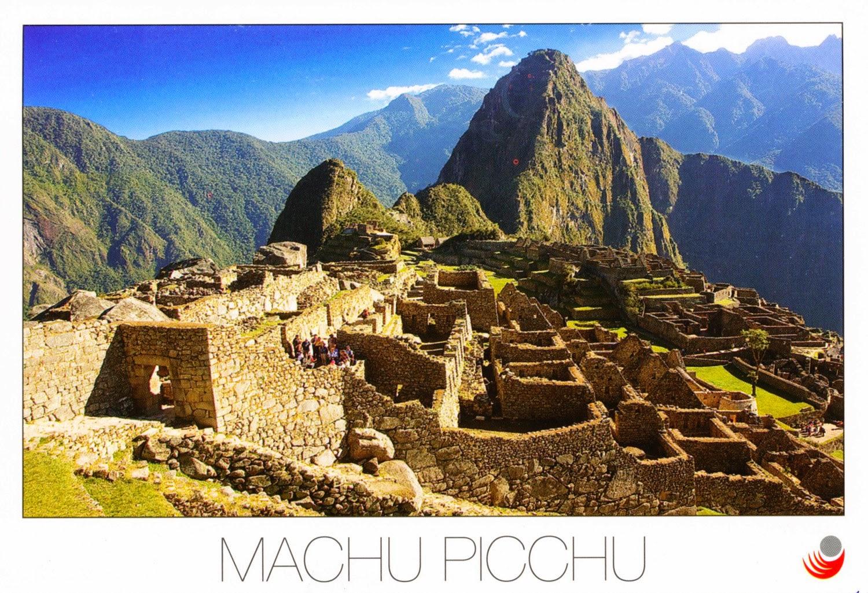 machu picchu, peru, postcard, inca, ruins