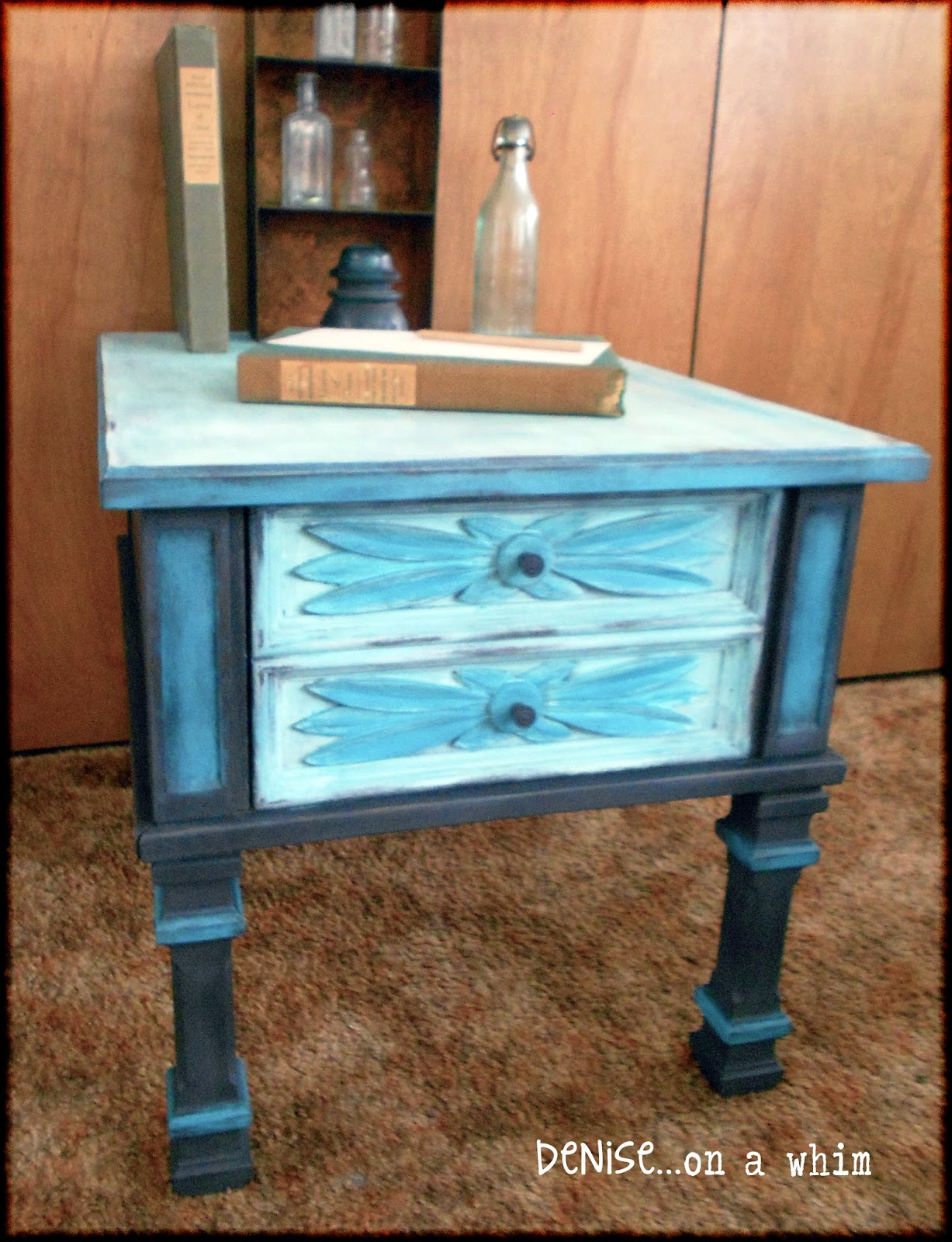 A little chalk paint goes a long way! via http://deniseonawhim.blogspot.com