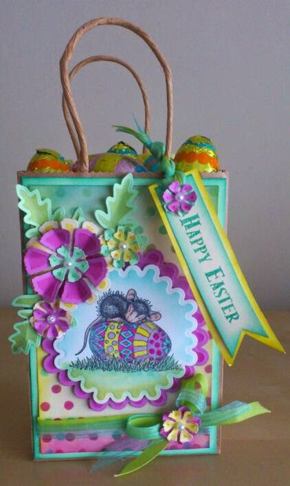Crafty little ideas easter gift bag workshops as easter is almost upon us we thought it would be a nice idea to decorate a gift bag fill it with some chocolate eggs for our ladies to take home negle Image collections