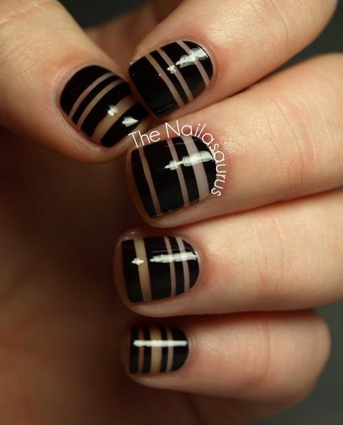Striping Tape Nail Art Tutorial: Christan Dior AW12 Fashion Nail Art Tutorial