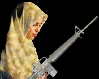 Hijab and gun