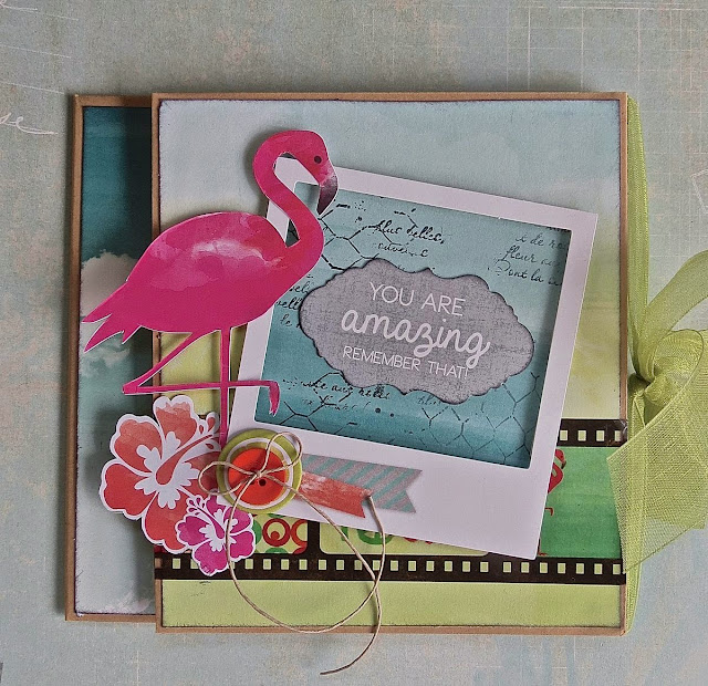 Gift Card Holder by Megan Gourlay for BoBunny using Kraft Bags and Forever Young