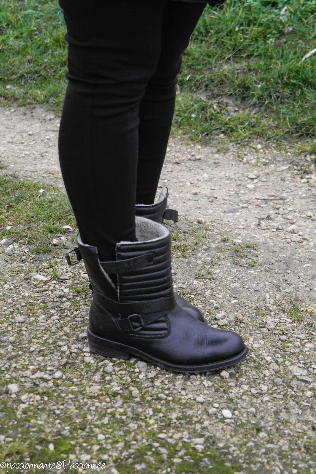 boots motardes zara