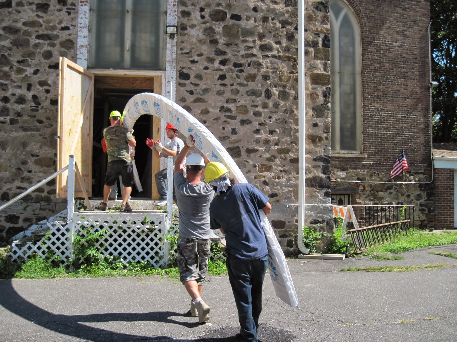 Glulams arrive