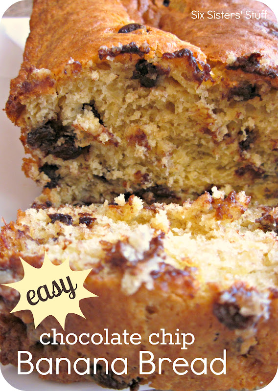 Easy Chocolate Chip Banana Bread | Six Sisters' Stuff