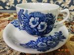 Cawan biru batik japan