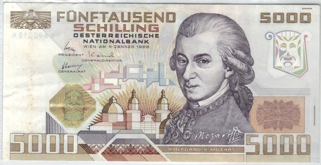 Austria - 5000 Schilling - 1988 - P# 153