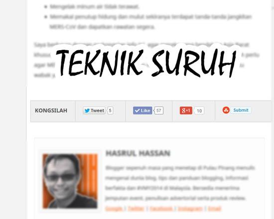 Panduan blogger blogspot - Teknik Suruh Dalam Perkongsian Entri