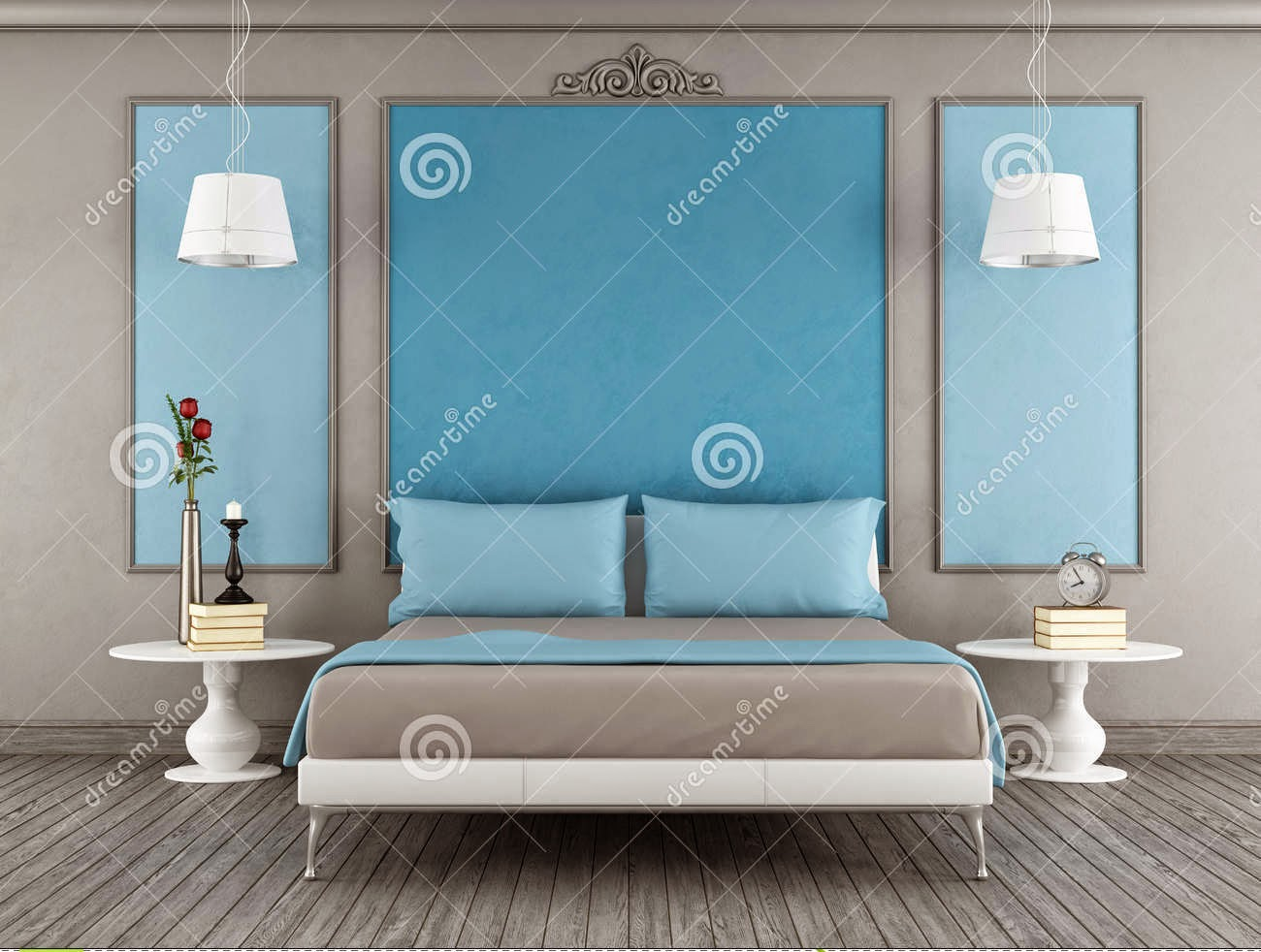 modern blue bedroom designs in combination with gray. 20 Blue bedroom ideas and designs for inspiration