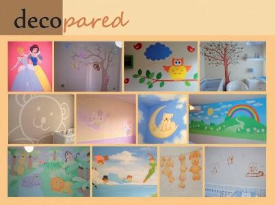 Decopared murales para pintar la habitaci n del beb for Murales habitacion bebe
