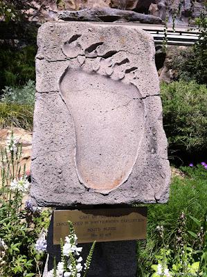 Abominable Snowman Footprint Disneyland Matterhorn