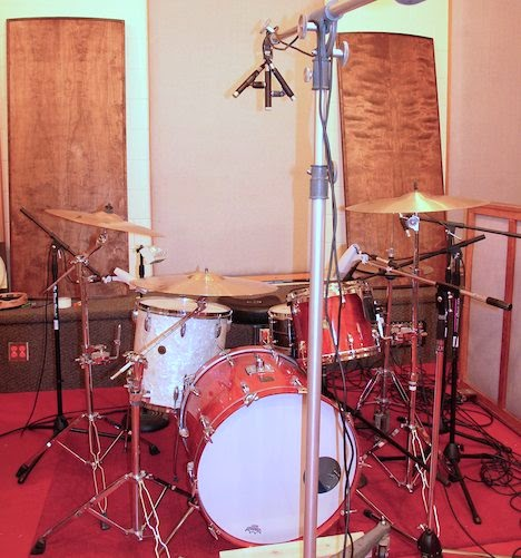 Drum kit with ORTF overheads image