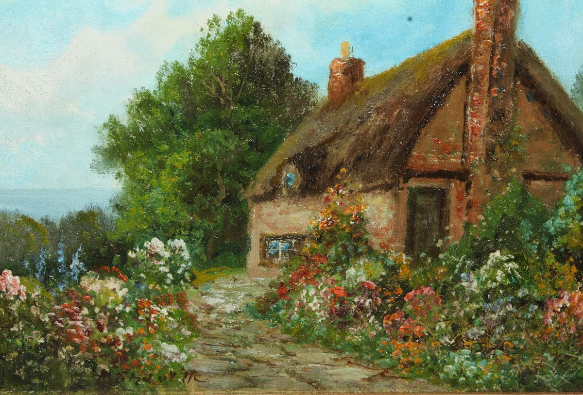 English country garden paintings - English Country Garden Paintings Victorian British Painting Daniel Sherrin Country Garden
