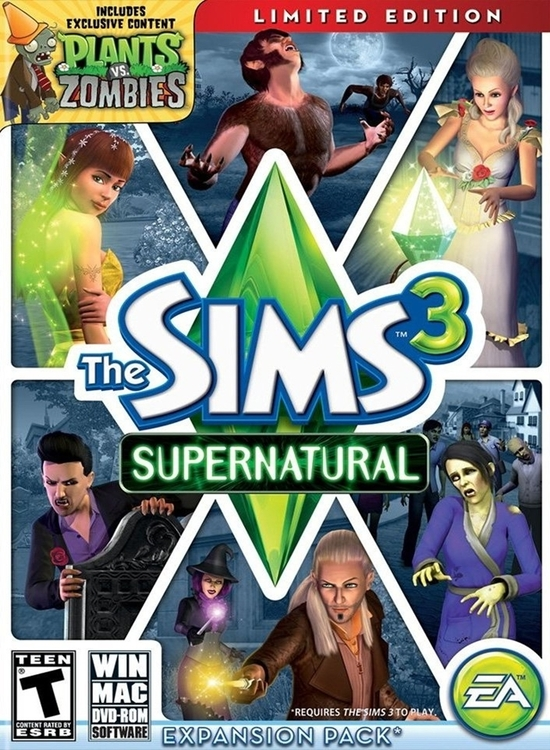 the sims 3 supernatural pc game live a supernatural life in a new ...