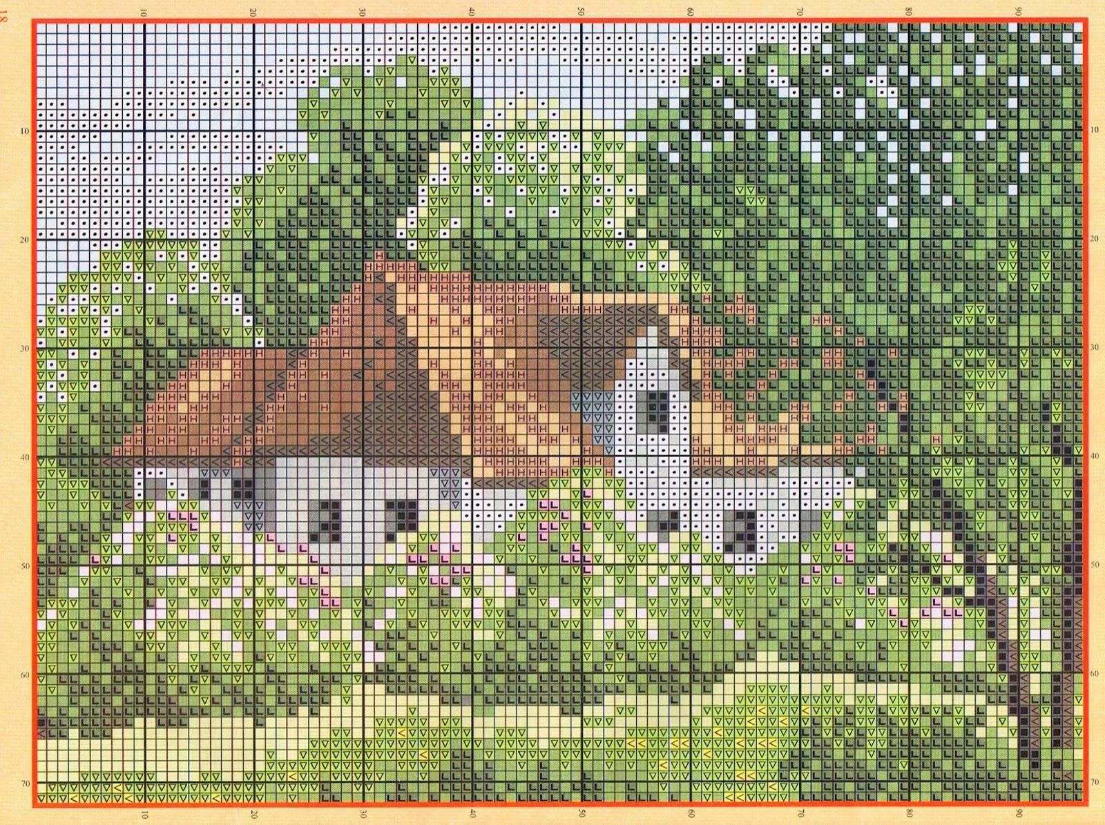 Graficos punto de cruz gratis cuadros casas 30 - Videos de punto de cruz ...
