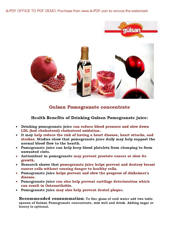 Gulsan Pomegranate Benefit