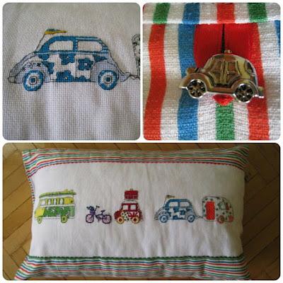 Полосатая ткань с вышивкой