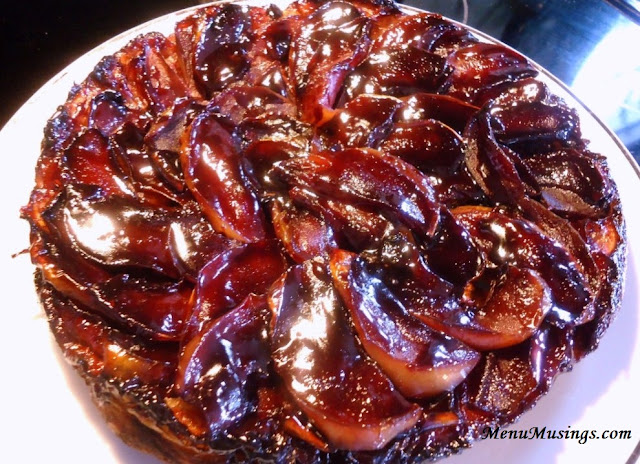 ... : Apple Tarte Tatin with Red Wine Caramel and Brandied Whipped Cream