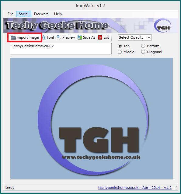 ImgWater v1.3 Released - Free Image Watermarking Tool 1