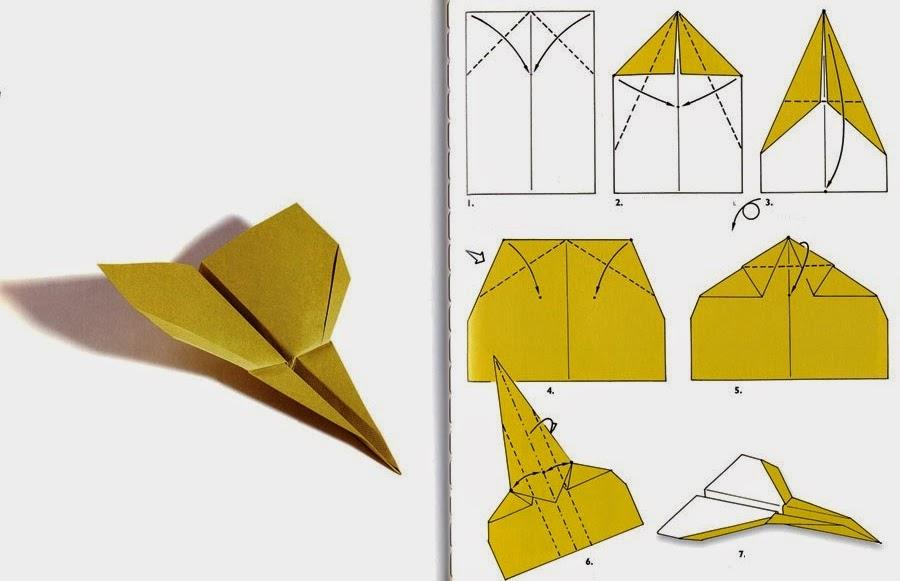 Бумажные самолётики - схемы оригами - Из Бумаги