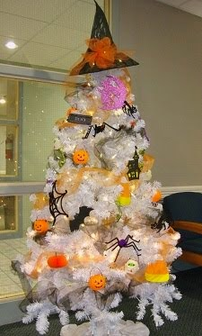 Decorated Tree for Halloween