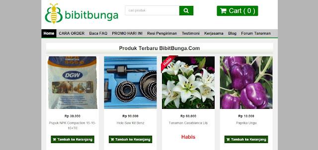 Bibitbunga.com, Pusat Penyedia Benih Tanaman Dan Perkakas Berkebun Terpercaya