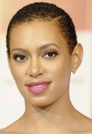 Solange Knowles African American Close Cropped And Natural Hairstyle Pictures