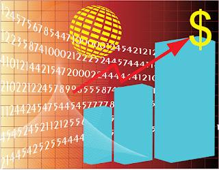金融ビジネスをイメージした背景 Business Stats イラスト素材