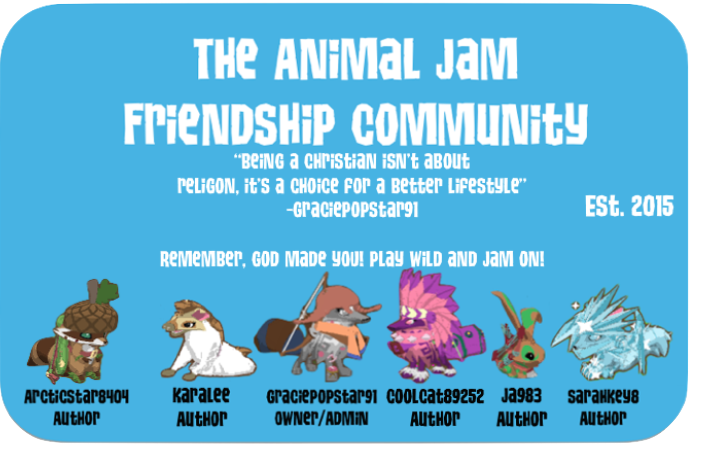 The Animal Jam Friendship Community