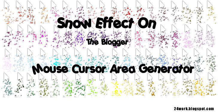 How To Add Snow Effect On The Blogger Mouse Cursor Area
