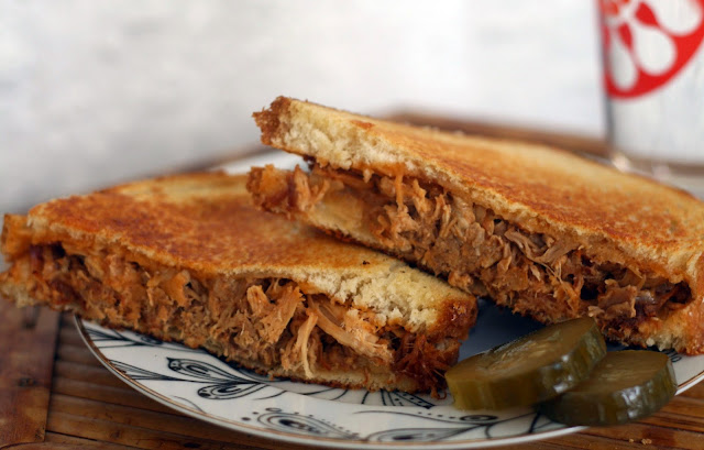 apple butter pulled pork grilled cheese