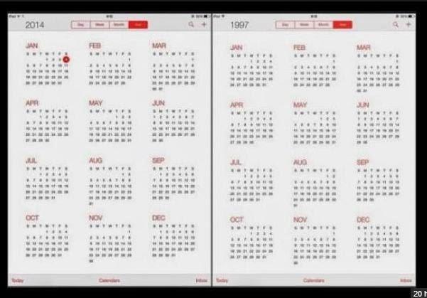 Mengapa Kalender 2014 dan 1997 Sama? Ini Alasannya