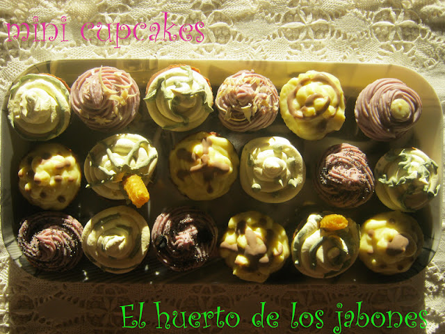 Mini cupcakes jabonosos