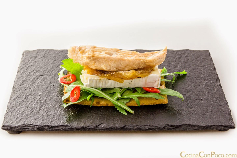 Tosta de ventresca de atun - Receta
