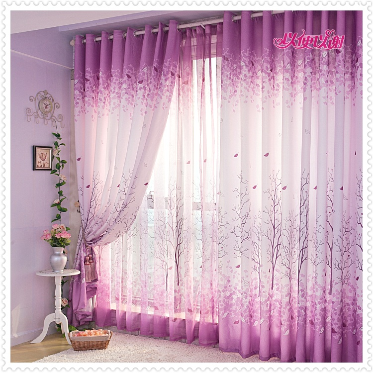 living room design ideas with romantic curtain, New design of curtain ...